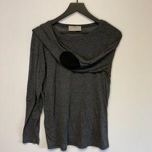 Zara grey long sleeve elbow tee